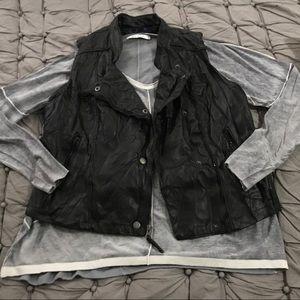 Miley Cyrus BCBGMaxAzria Faux Leather Vest
